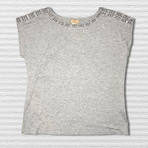 Ruby Rd Sleeveless Sequin Studded Top